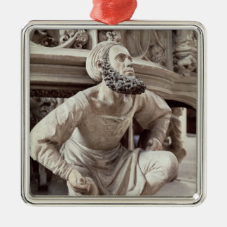 Self portrait of Adam Krafft , stone sculpture Metal Ornament