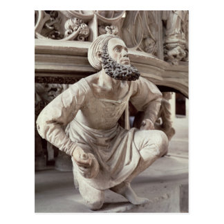 Self portrait of Adam Krafft , stone sculpture Postcard