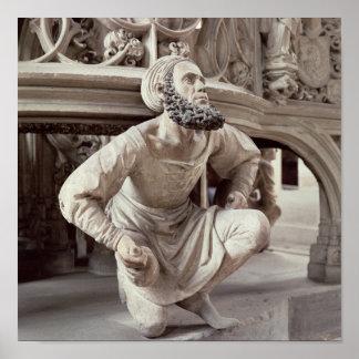 Self portrait of Adam Krafft , stone sculpture Poster