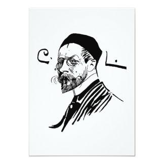 Self Portrait of Artist Carl Larsson 1891 5x7 Paper Invitation Card