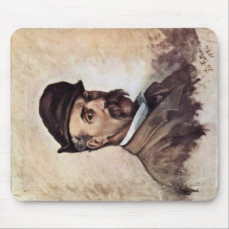 Self-Portrait Of Fifty Years By Fattori Giovanni Mouse Pads