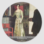 Self-Portrait Of The Painter And His Wife Sticker