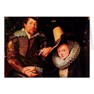 Self-portrait of the Rubens and his wife, Isabella Card