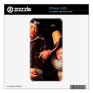 Self-portrait of the Rubens and his wife, Isabella Skins For iPhone 4