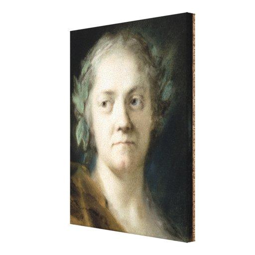 Self Portrait (oil on paper) Canvas Print
