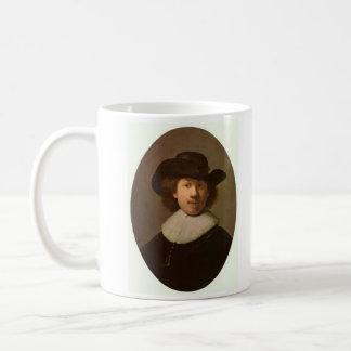 Self-Portrait Oval, by Rembrandt Coffee Mug