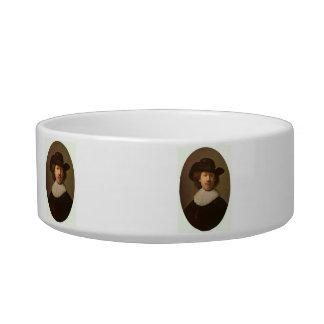 Self-Portrait Oval, by Rembrandt Cat Bowls