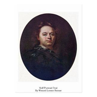 Self-Portrait Oval By Wenzel Lorenz Reiner Postcard