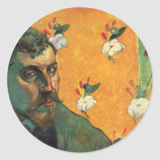 Self-portrait - Paul Gauguin Classic Round Sticker