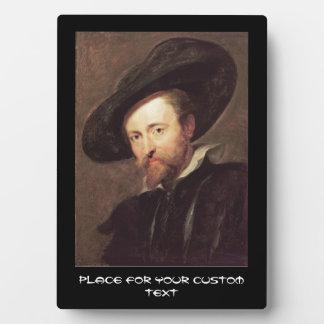 Self Portrait  Peter Paul Rubens oil painting Plaque