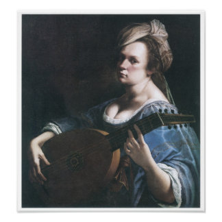 Self-Portrait Playing a Lute, 1615-17 Poster