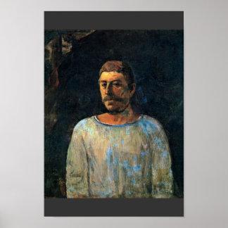"""Self-Portrait """"Près Du Golgotha"""" """""""" By Gauguin Pau Poster"""