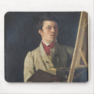 Self Portrait, Sitting next to an Easel, 1825 Mouse Pad