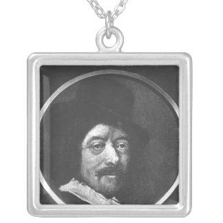 Self portrait square pendant necklace