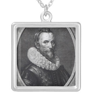 Self Portrait the Younger Gheeraerts, Silver Plated Necklace