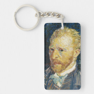 Self Portrait Vincent van Gogh fine art painting Keychain