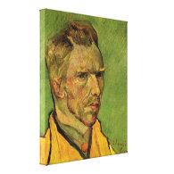 Self Portrait, Vincent van Gogh. Portrait oil pain Gallery Wrap Canvas