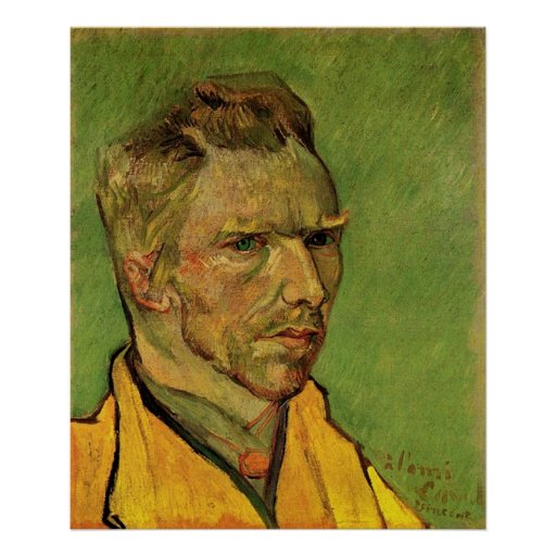 Self Portrait, Vincent van Gogh. Poster
