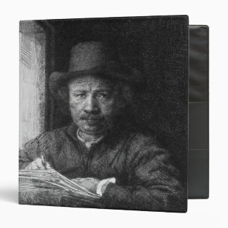 Self portrait while drawing, 1648 binder