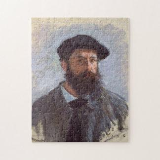 Self Portrait with a Beret Monet Fine Art Jigsaw Puzzle