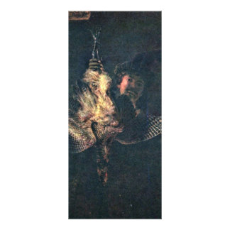 Self-Portrait With A Dead Bittern By Rembrandt Har Rack Card Design