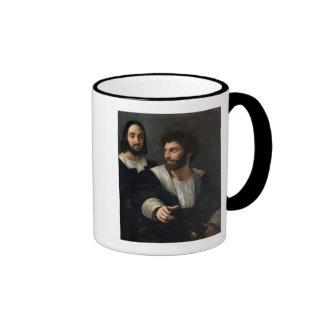 Self Portrait with a Friend Ringer Mug