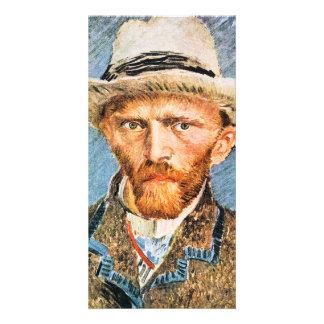 Self-portrait with a gray felt hat by van Gogh Card