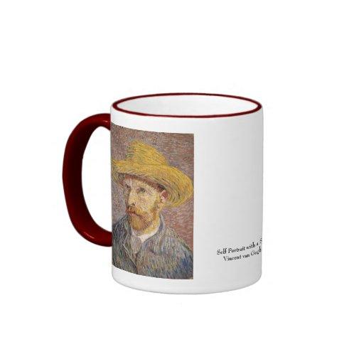 Self Portrait with a Straw Hat by Vincent van Gogh Mug