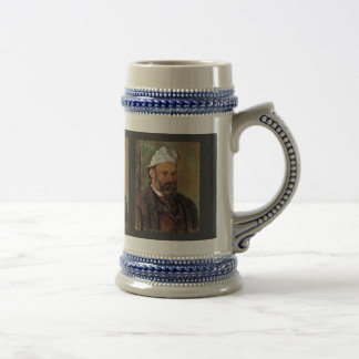 Self-Portrait With A White Turban By Paul Cézanne 18 Oz Beer Stein