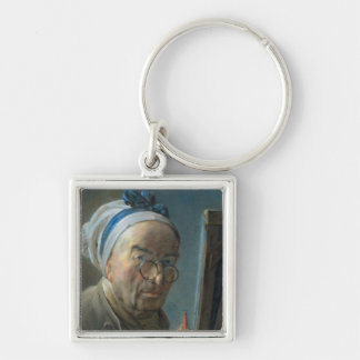 Self Portrait with an Easel, c.1775-79 Keychain