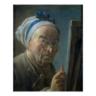 Self Portrait with an Easel, c.1775-79 Poster