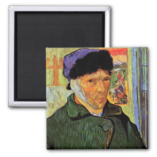 Self-Portrait with Bandaged Ear by van Gogh Magnet