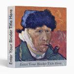 Self-Portrait With Bandaged Ear By Vincent Van Gog 3 Ring Binder