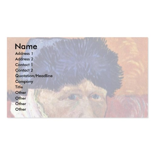 Self-Portrait With Bandaged Ear By Vincent Van Gog Double-Sided Standard Business Cards (Pack Of 100)