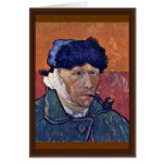 Self-Portrait With Bandaged Ear By Vincent Van Gog Greeting Card