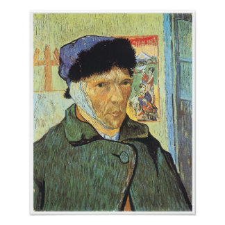 Self-Portrait with Bandaged Ear, Van Gogh Poster