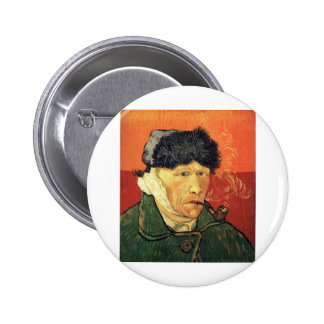 Self Portrait with Bandaged Ear - Vincent Van Gogh Pinback Button