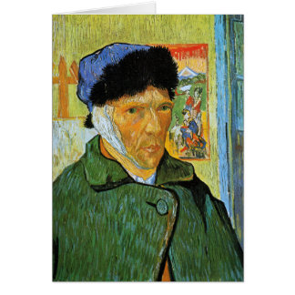 Self Portrait with Bandaged Ear, Vincent Van Gogh Card