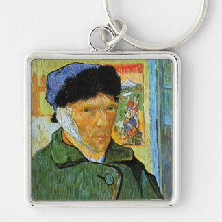 Self Portrait with Bandaged Ear, Vincent Van Gogh Keychain