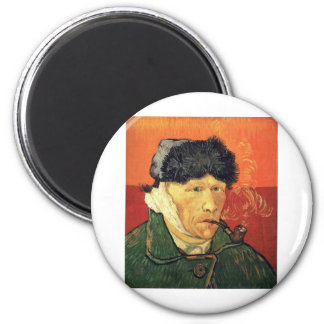 Self Portrait with Bandaged Ear - Vincent Van Gogh Magnet