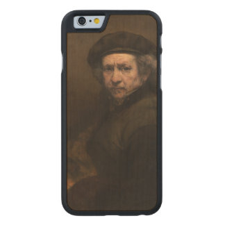 Self-Portrait with Beret by Rembrandt Carved® Maple iPhone 6 Slim Case
