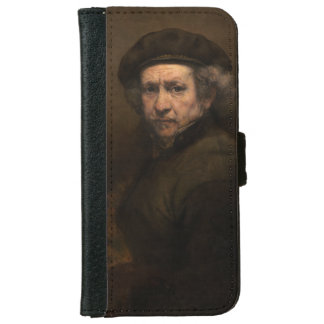 Self-Portrait with Beret by Rembrandt iPhone 6 Wallet Case