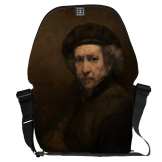 Self-Portrait with Beret by Rembrandt Messenger Bags