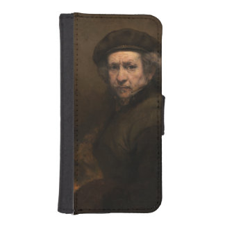 Self-Portrait with Beret by Rembrandt Phone Wallets