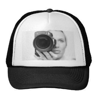 Self Portrait with Camera Trucker Hat