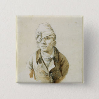 Self Portrait with Cap and Eye Patch Button