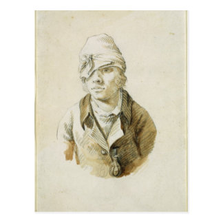 Self Portrait with Cap and Eye Patch Postcard