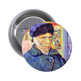 Self-Portrait with cut ear by Vincent van Gogh Buttons