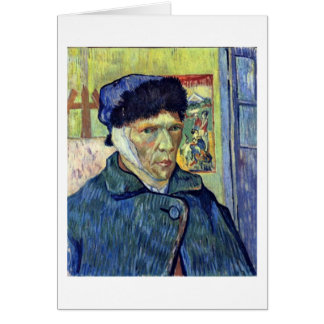 Self-Portrait With Cut Ear By Vincent Van Gogh Card