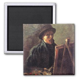 Self-Portrait with Dark Felt Hat by Vincent van Go Magnet
